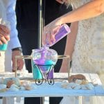 Pouring of the sand during our Destin, Florida beach weddings