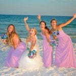 Destin, Florida beach weddings when surrounded by your girls are the best.