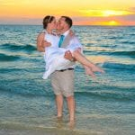 Madeira Beach Weddings during the sunset in Clearwater, Florida