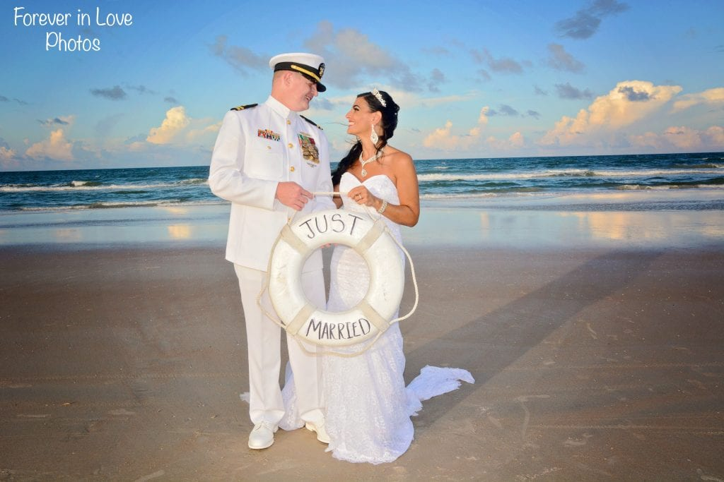 Navy wedding Cocoa Beach