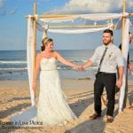 Introducing the new couple at our Palm Coast, Florida Beach weddings.