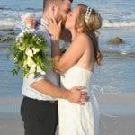 Palm Coast, Florida beach weddings are a great location for beach wedding photos.