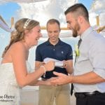 Palm Coast, Florida beach weddings are more than memorable, they're fun. Check out this bride and groom.