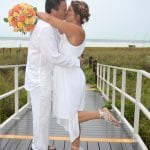 Siesta Key Beach Weddings in the rain.