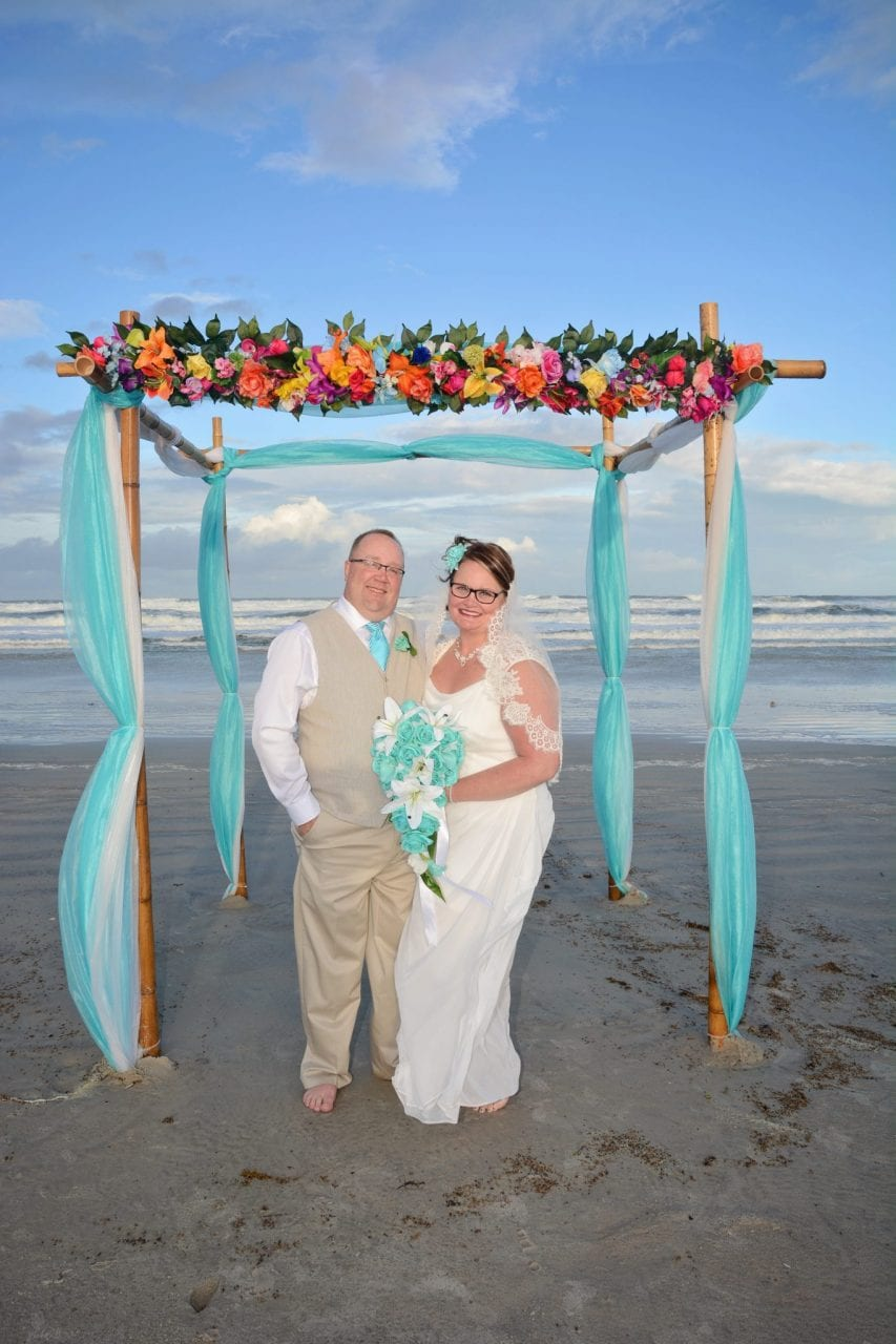 Just one of our many couples who enjoy our destination beach weddings in Florida