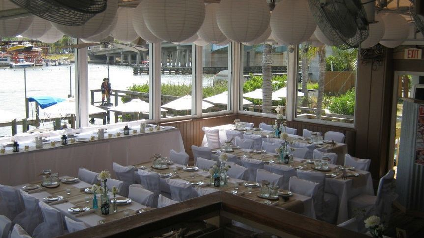 Boatyard Bar and Grill wedding reception, Sarasota, Florida