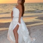 Check out this Bride at then end of the day at her Beach Wedding in Clearwater, Florida.