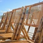 Destination Florida beach weddings with bamboo chairs.