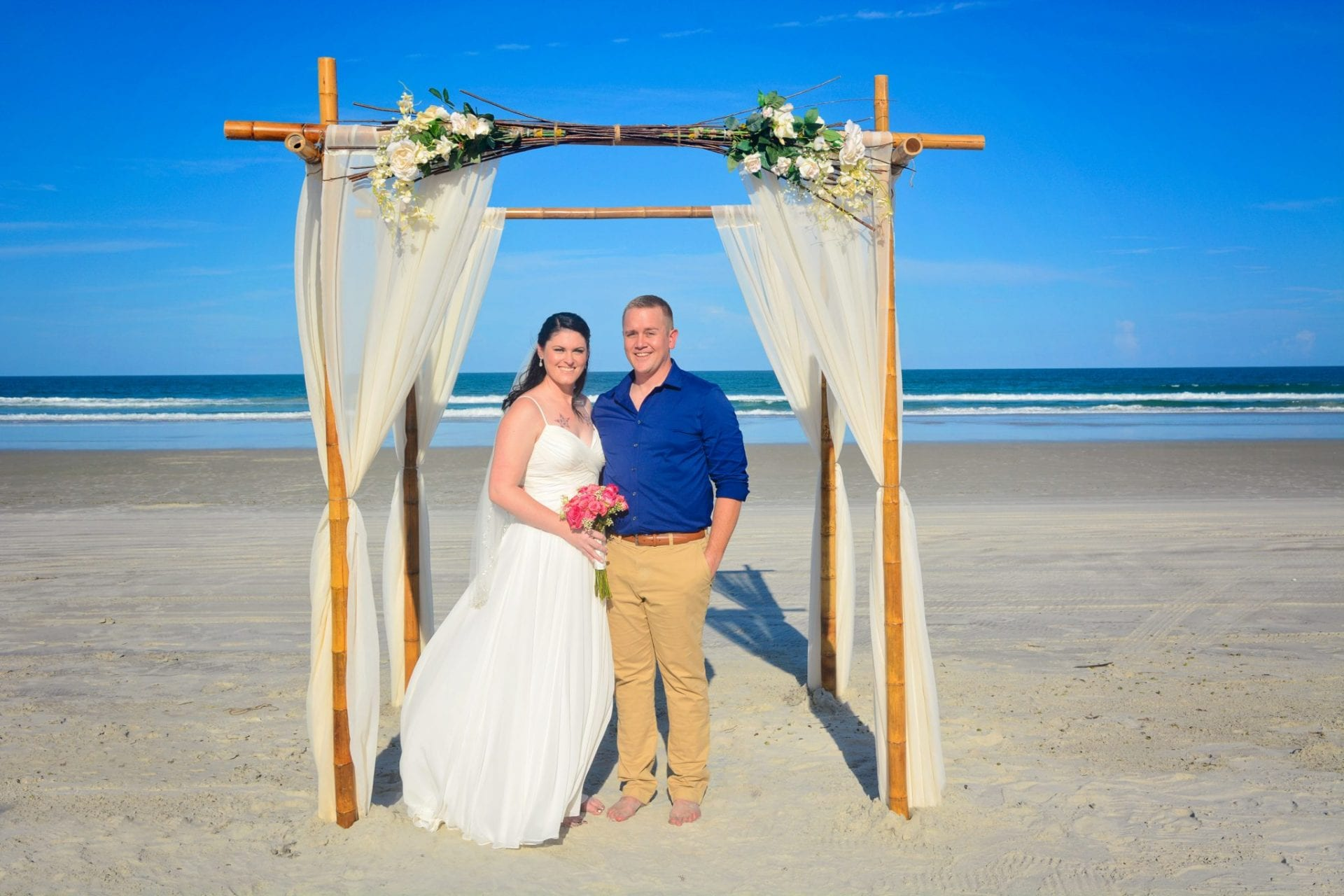 couple married on Daytona Beach