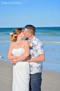 Daytona Beach Weddings with a sweet kiss and ocean views.