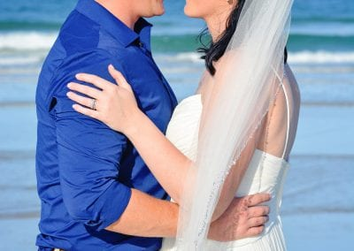 Daytona beach elopement ceremony that is affordable.