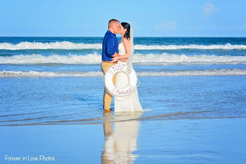 Daytona Beach elopement ceremony on the beach.