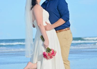 Daytona Beach Elopement Ceremony with chairs, officiant and photography.