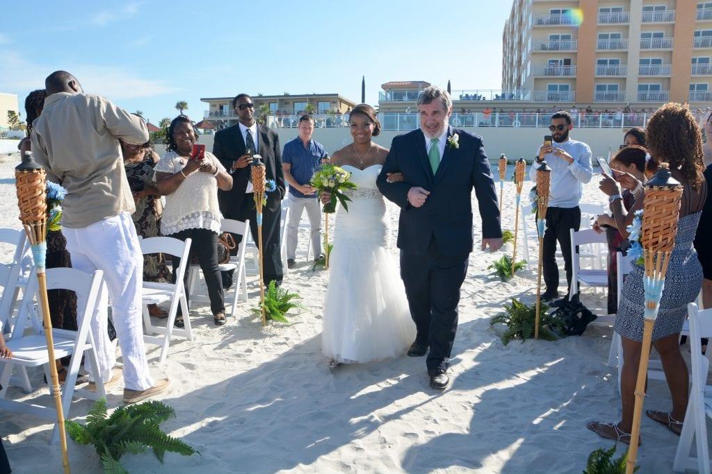 Hotel wedding couple at Daytona Beach Shores Resort and Spa