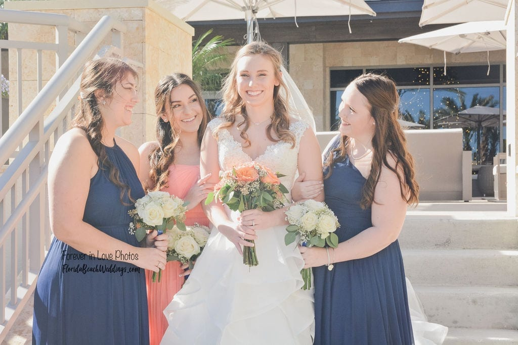 Embassy Suites St Augustine weddings on the beach with your bridal party.