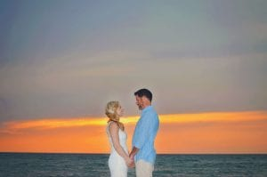 Clearwater Beach Weddings with vibrant sunsets.