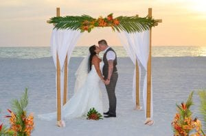 Clearwater Beach Weddings with tropical Florida beach wedding packages