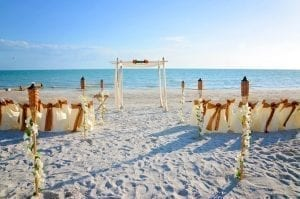 Our Clearwater Beach Weddings include the packages you will need, officiant, ceremony, canopy, and chairs.