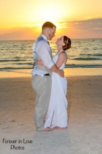 Clearwater Beach Weddings during the sunset hour are great for your photography session.