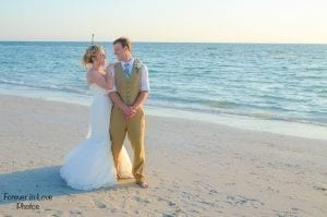 Clearwater Beach Weddings are a romantic and elegant destination beach wedding.