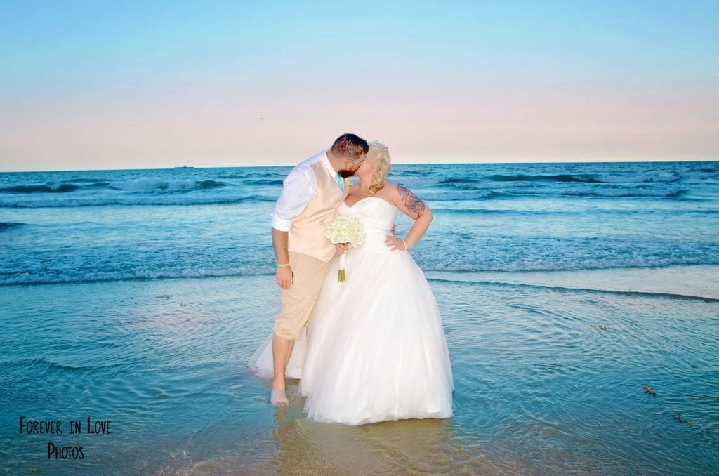 Cocoa Beach Weddings in Florida are the ideal spot to put your toes in the ocean and enjoy a sunset Florida beach wedding ceremony.