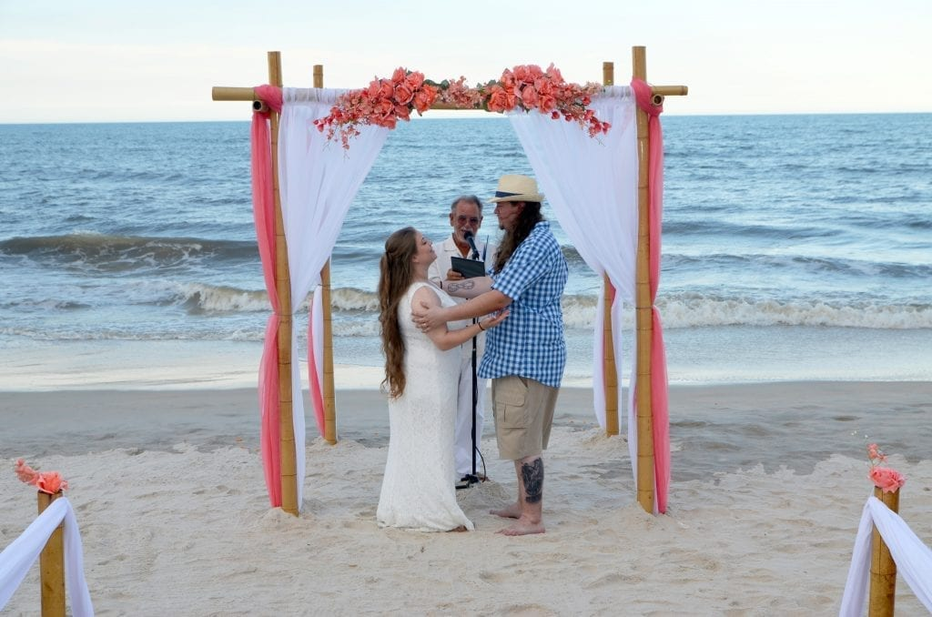 "A beautiful setting to say ""I Do"" under one of our Destination beach wedding packages in Florida."