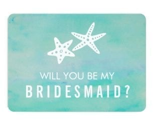 Beach Wedding Bridesmaid Invitation