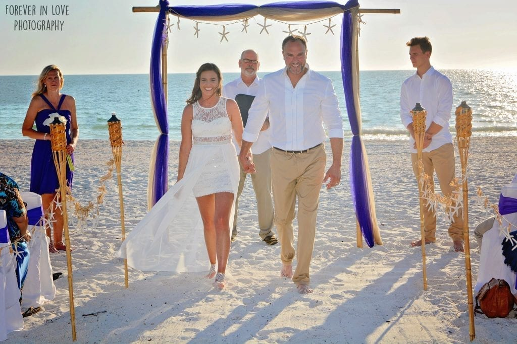 Lido Beach Weddings on Siesta Key Beach in Florida.