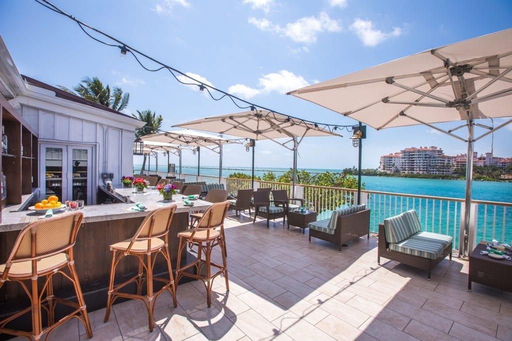 South Beach Miami Wedding reception on the ocean