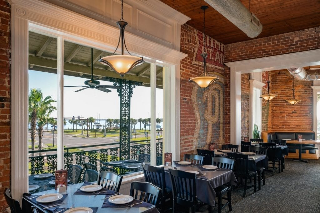 St. Augustine Beach weddings and receptions at a1a aleworks provide beautiful views