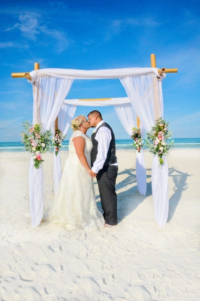 Destin Beach Elopements in Florida on the gulf Coast beaches.