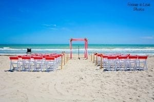 All-inclusive Florida Beach Wedding packages with coral colors.