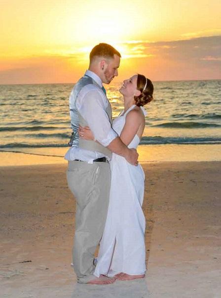 Redington Beach wedding couple