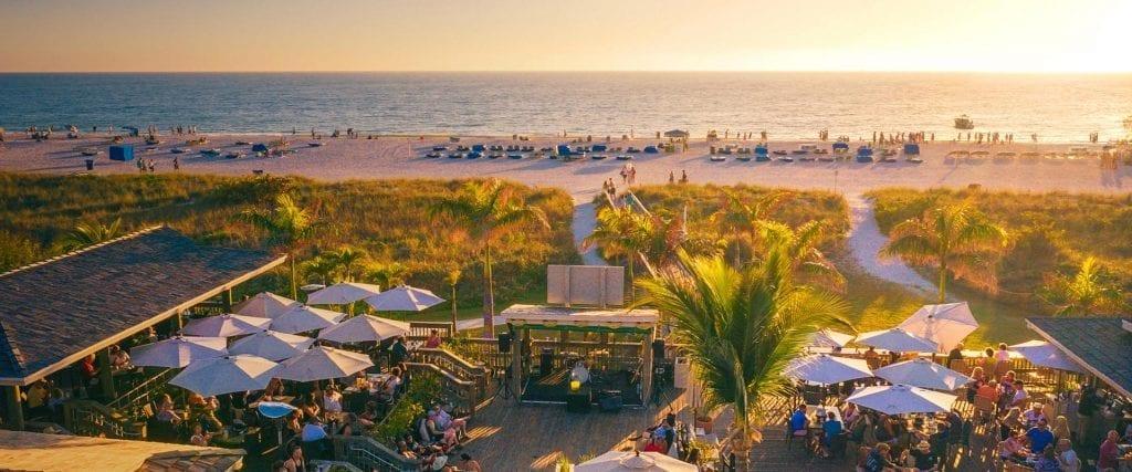 Jimmy B's Beach Bar restaurant in St. Pete Beach, FL
