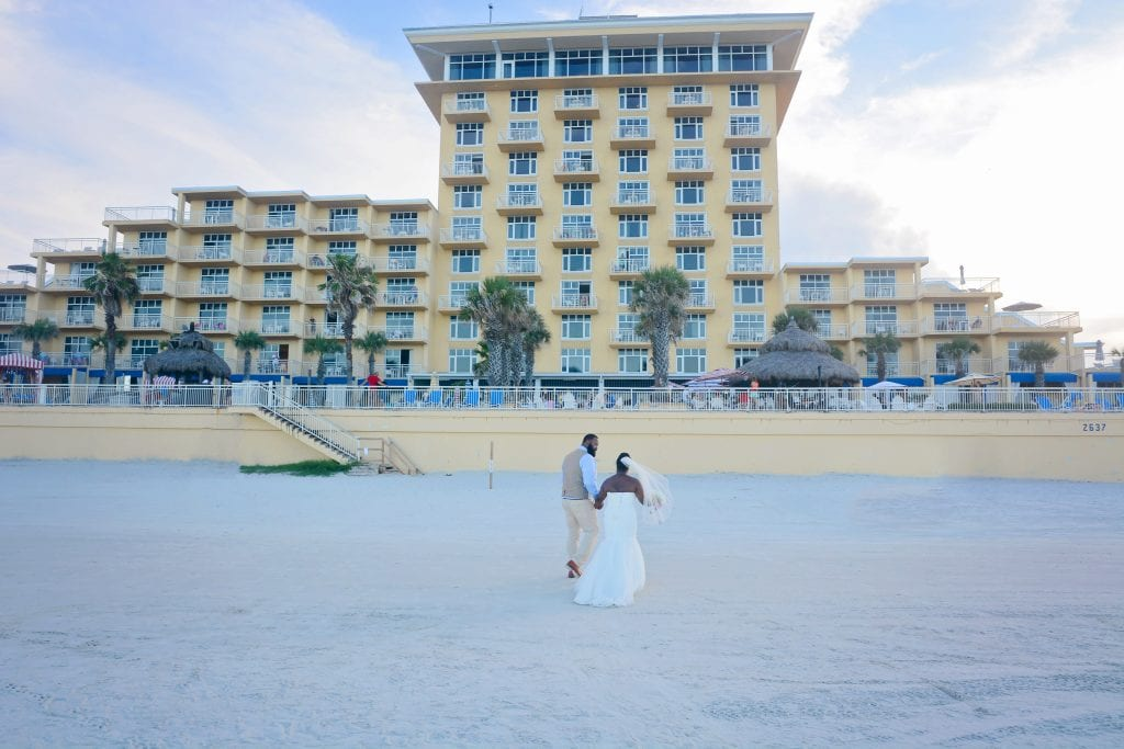 Daytona Beach Weddings at the shores resort and spa hotel on the beach