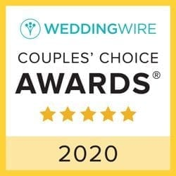 WeddingWire Couples Choice award 2020 banner
