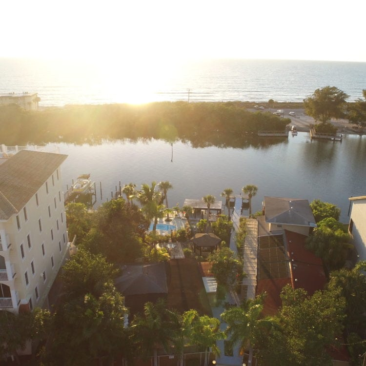 Turtle Beach Resort in Siesta Key, FL at sunset