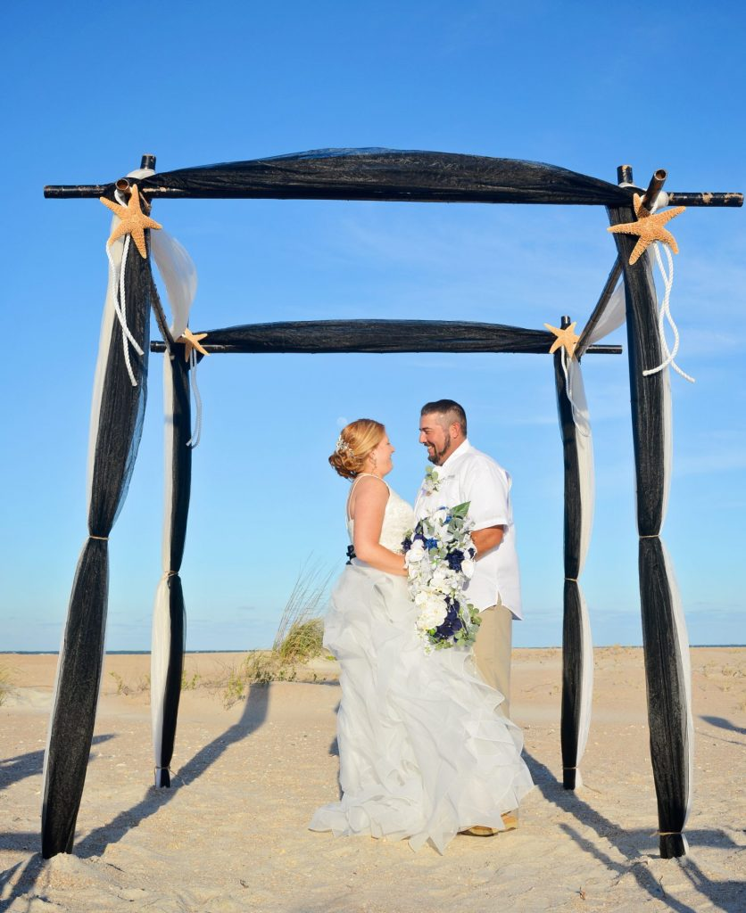 beach wedding in St. Augustine