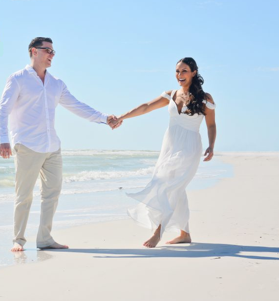 Siesta Key wedding couple UK