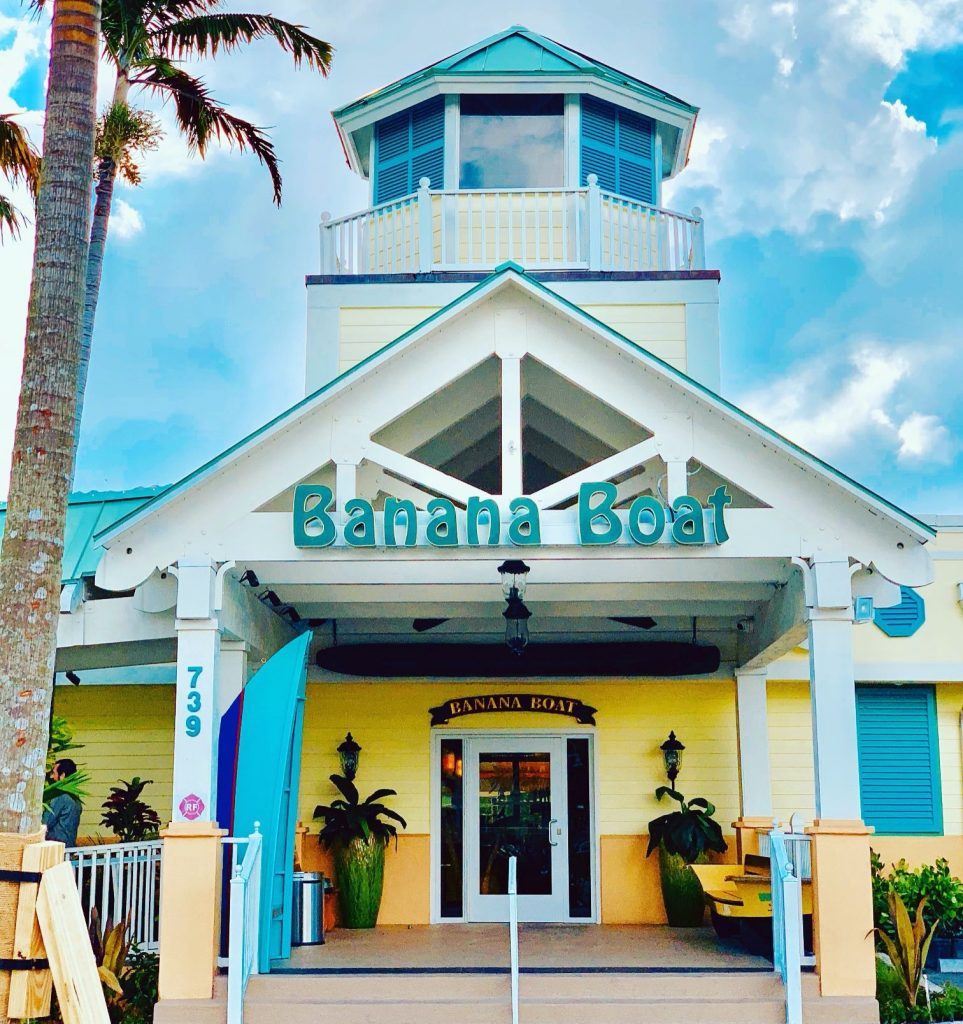 Banana Boat restaurant entrance in Boynton Beach, FL
