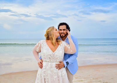Wedding couple at Wilbur By the Sea beach