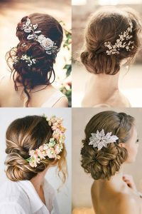 Four flowered hair dos for brides
