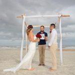 St. Augustine Beach couple married under stormy skies