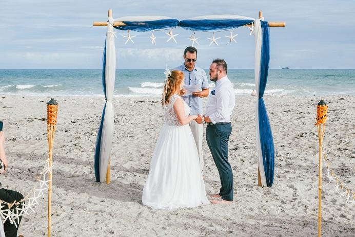 Cocoa Beach Wedding Ceremony near Orland