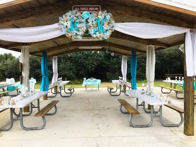 Sea Turtle Pavilion for beach wedding reception