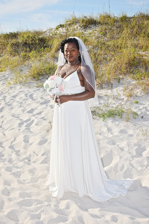Clearwater Beach Wedding Bride by dunes