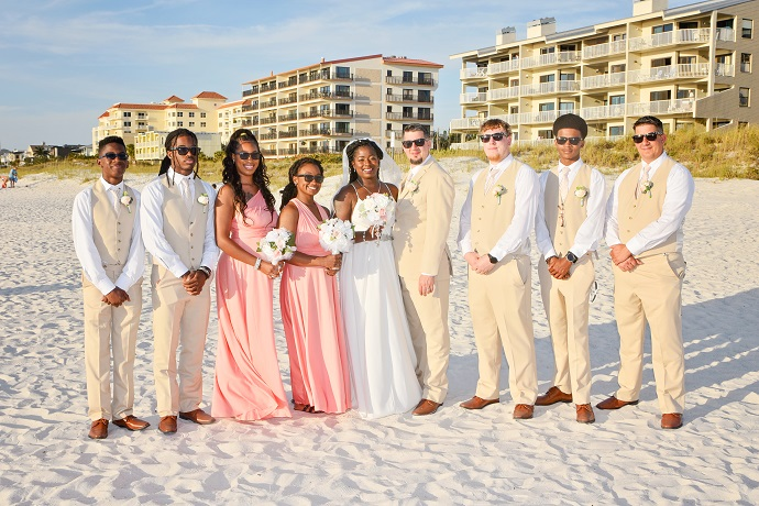 Clearwater Beach Wedding Party