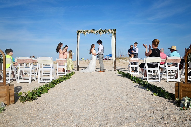 Rustic beach wedding in St. Augustine